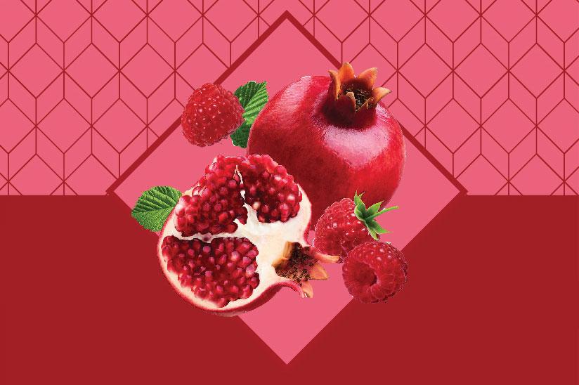Ρόδι & Raspberry